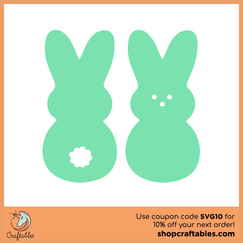 Free Bunnies  SVG Cut File for Cricut, Silhouette, Illustrator, inkscape, t shirts