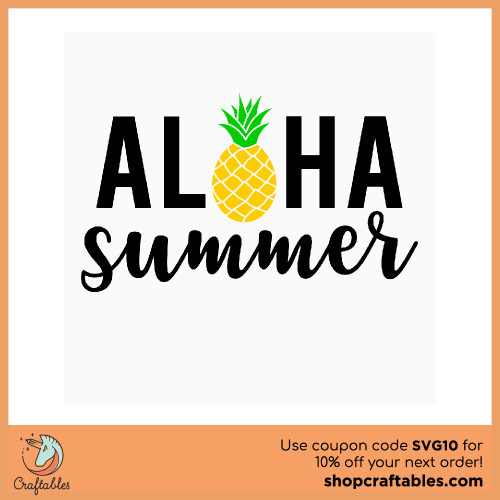 Free Aloha Summer SVG Cut File for Cricut, Silhouette, Illustrator, inkscape, t shirts