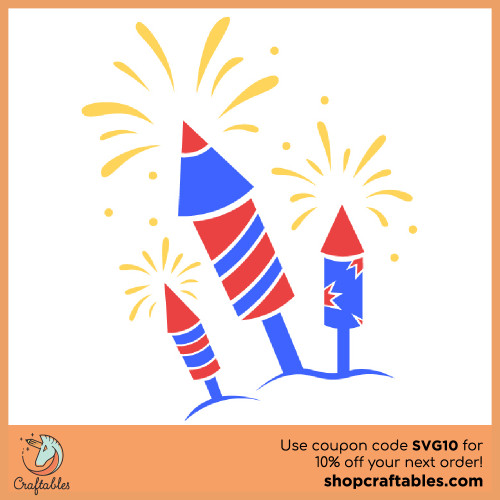Free Firecrackers SVG Cut File for Cricut, Silhouette, Illustrator, inkscape, t shirts