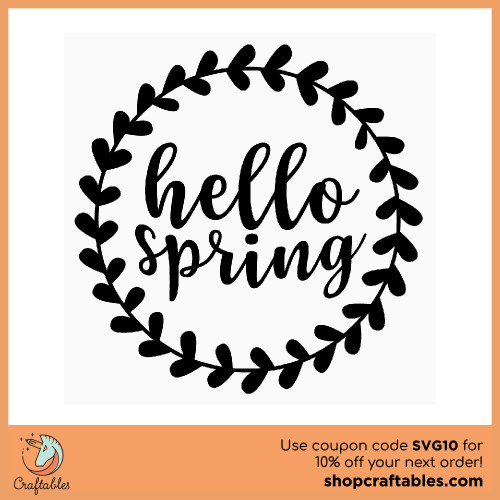 Free Hello Spring Border SVG Cut File for Cricut, Silhouette, Illustrator, inkscape, t shirts