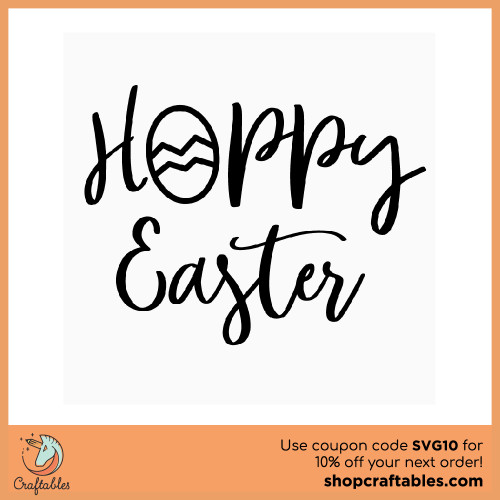 Free Hoppy Easter SVG Cut File for Cricut, Silhouette, Illustrator, inkscape, t shirts