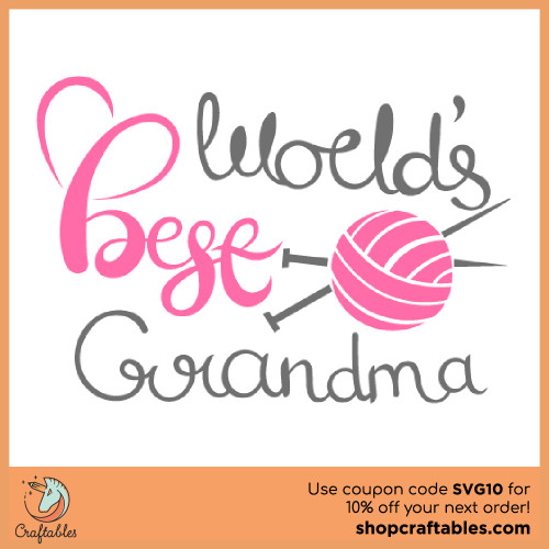 Free World's Best Grandma SVG Cut File for Cricut, Silhouette, Illustrator, inkscape, t shirts
