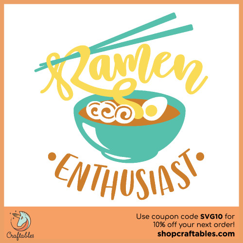Free Ramen Enthusiast SVG Cut File for Cricut, Silhouette, Illustrator, inkscape, t shirts