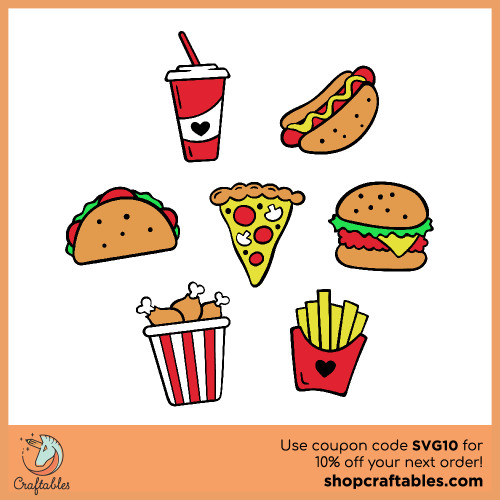 Free Junk Food SVG Cut File for Cricut, Silhouette, Illustrator, inkscape, t shirts