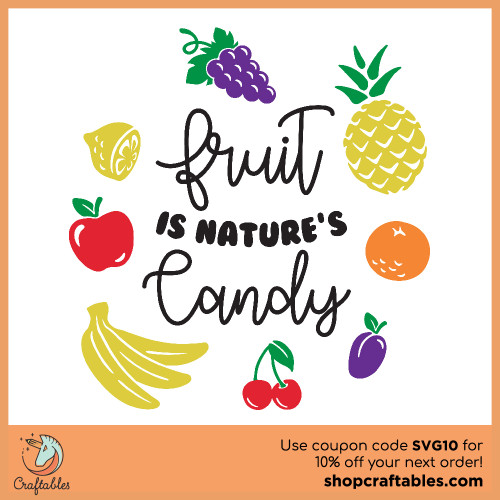 Free Fruits SVG Cut File for Cricut, Silhouette, Illustrator, inkscape, t shirts