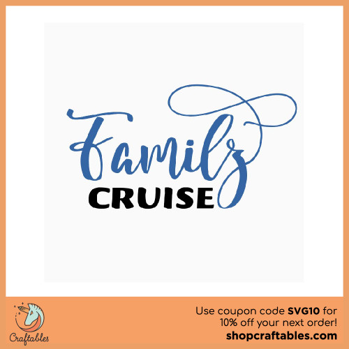 Free Family Cruise SVG Cut File for Cricut, Silhouette, Illustrator, inkscape, t shirts