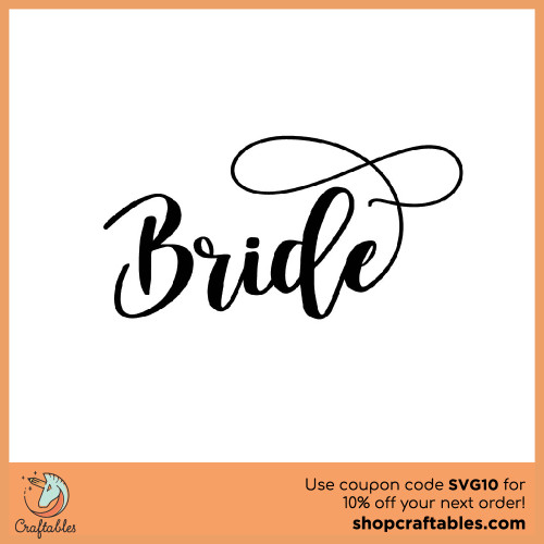 Free Bride SVG Cut File for Cricut, Silhouette, Illustrator, inkscape, t shirts