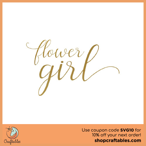Free Flower Girl SVG Cut File for Cricut, Silhouette, Illustrator, inkscape, t shirts