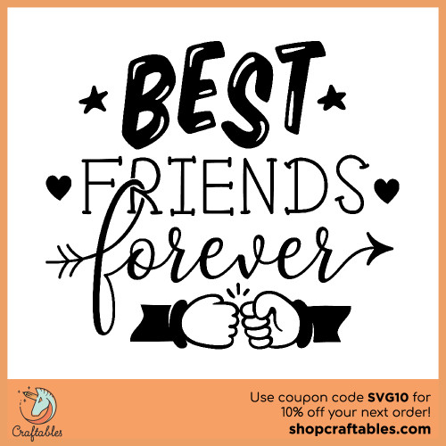 Free Best Friends Forever SVG Cut File for Cricut, Silhouette, Illustrator, inkscape, t shirts