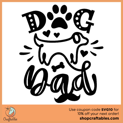 Free Dog Dad SVG Cut File for Cricut, Silhouette, Illustrator, inkscape, t shirts