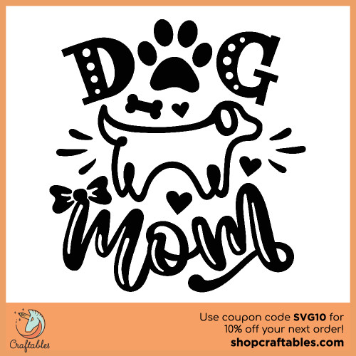 Free Dog Mom SVG Cut File for Cricut, Silhouette, Illustrator, inkscape, t shirts
