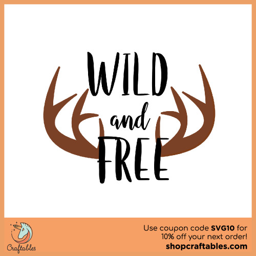 Free Life is Wild and Free SVG Cut File for Cricut, Silhouette, Illustrator, inkscape, t shirts
