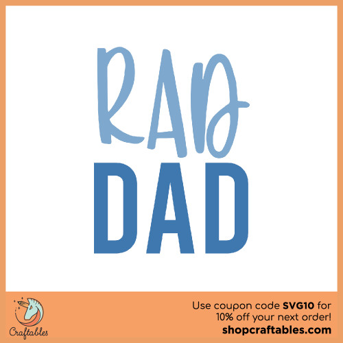 Free Rad Dad SVG Cut File for Cricut, Silhouette, Illustrator, inkscape, t shirts