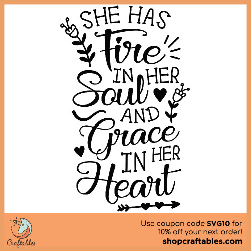 Free She Has Fire SVG Cut File for Cricut, Silhouette, Illustrator, inkscape, t shirts