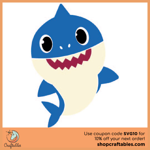 Free Baby Shark SVG Cut File for Cricut, Silhouette, Illustrator, inkscape, t shirts