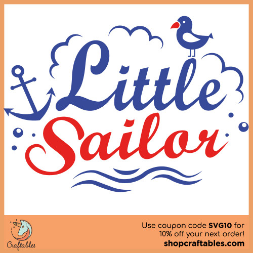 Free Little Sailor SVG Cut File for Cricut, Silhouette, Illustrator, inkscape, t shirts