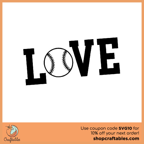 Free Love Baseball SVG Cut File for Cricut, Silhouette, Illustrator, inkscape, t shirts