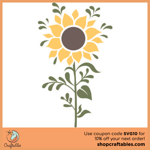 Free Sunflower SVG Cut File for Cricut, Silhouette, Illustrator, inkscape, t shirts