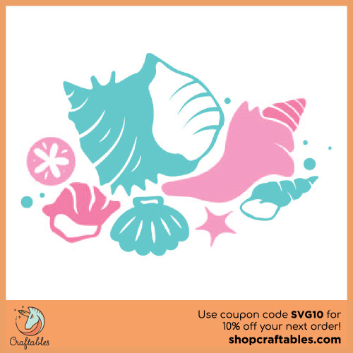 Free Sea Shells SVG Cut File for Cricut, Silhouette, Illustrator, inkscape, t shirts