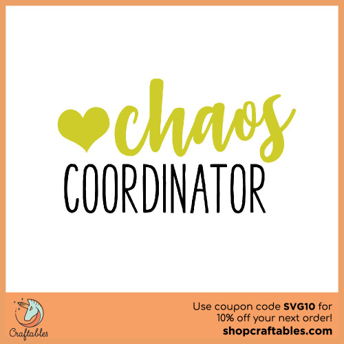 Free Chaos Coordinator SVG Cut File for Cricut, Silhouette, Illustrator, inkscape, t shirts