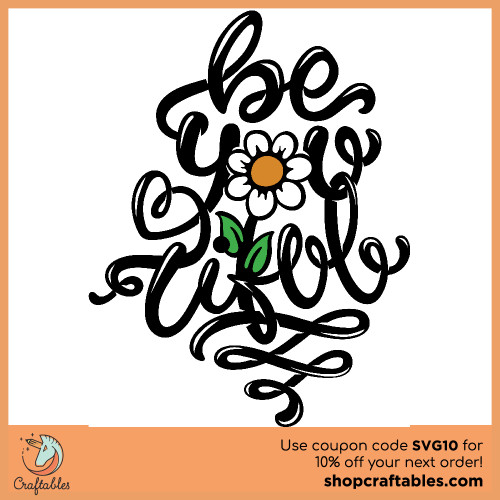 Free Be-you-tiful SVG Cut File for Cricut, Silhouette, Illustrator, inkscape, t shirts