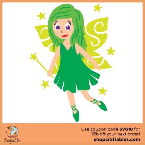 Free Fairy SVG Cut File for Cricut, Silhouette, Illustrator, inkscape, t shirts