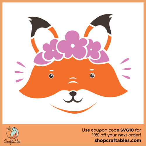 Free Girly Fox SVG Cut File for Cricut, Silhouette, Illustrator, inkscape, t shirts