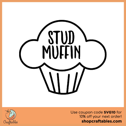 Free Stud Muffin SVG Cut File for Cricut, Silhouette, Illustrator, inkscape, t shirts