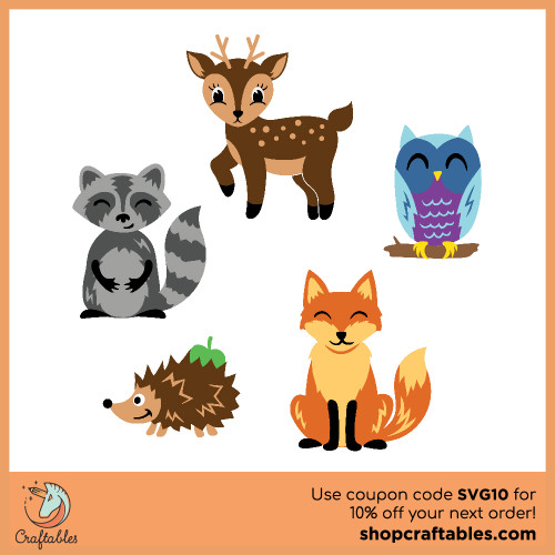 Free Woodland Creatures SVG Cut File for Cricut, Silhouette, Illustrator, inkscape, t shirts