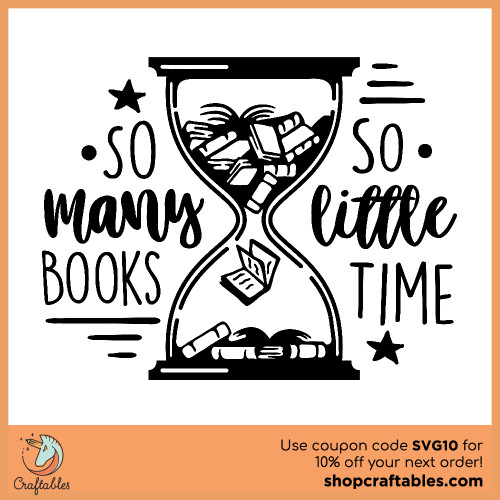Free So Many Books SVG Cut File for Cricut, Silhouette, Illustrator, inkscape, t shirts