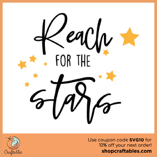 Free Reach For The Stars SVG Cut File for Cricut, Silhouette, Illustrator, inkscape, t shirts
