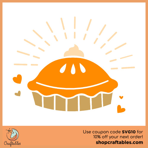 Free Pumpkin Pie SVG Cut File for Cricut, Silhouette, Illustrator, inkscape, t shirts