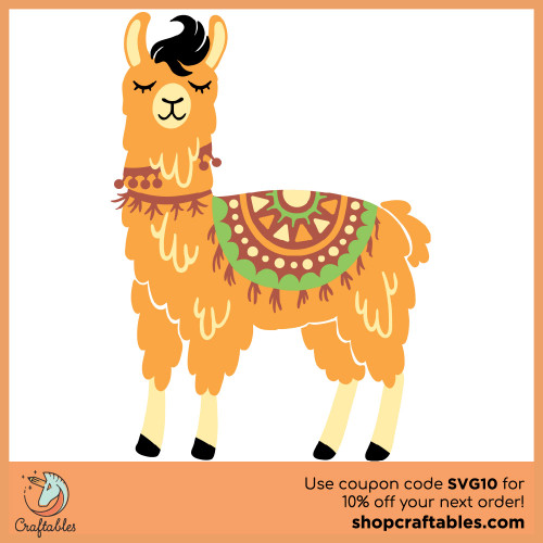 Free Llama SVG Cut File for Cricut, Silhouette, Illustrator, inkscape, t shirts