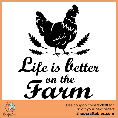 Free Life is Better on the Farm SVG Cut File for Cricut, Silhouette, Illustrator, inkscape, t shirts