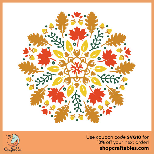Free Fall Mandala SVG Cut File for Cricut, Silhouette, Illustrator, inkscape, t shirts
