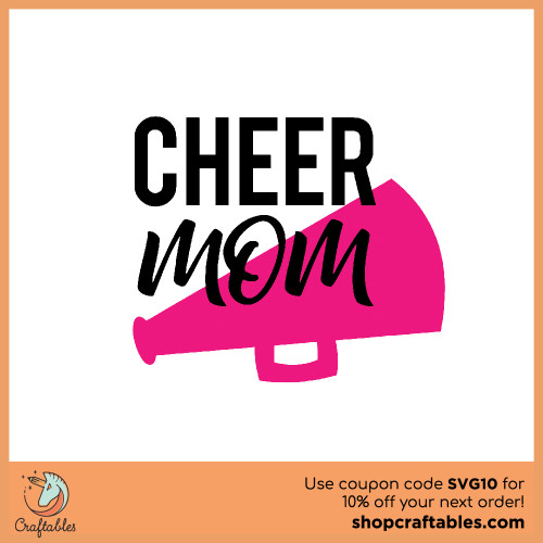 Free Cheer Mom SVG Cut File for Cricut, Silhouette, Illustrator, inkscape, t shirts