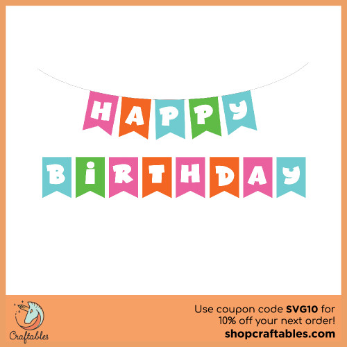 Free Birthday Banner SVG Cut File for Cricut, Silhouette, Illustrator, inkscape, t shirts