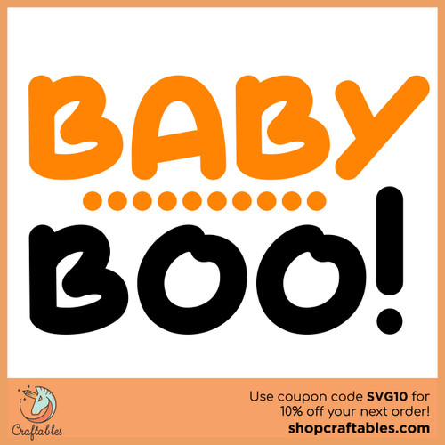Free Baby Boo SVG Cut File