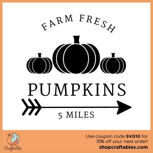 Free Farm Fresh Pumpkins SVG Cut File