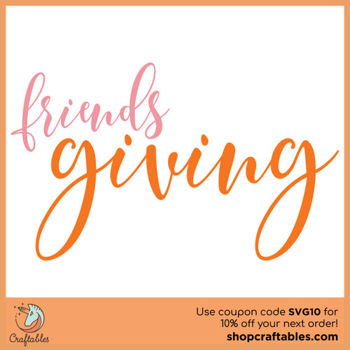 Free Friends Giving SVG Cut File