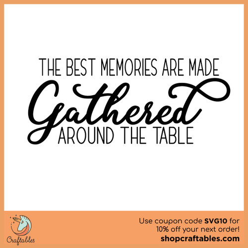 Free Gathered Around The Table SVG Cut File