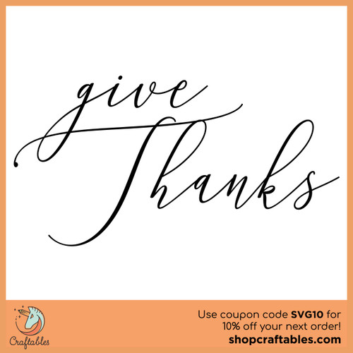 Free Give Thanks SVG Cut File