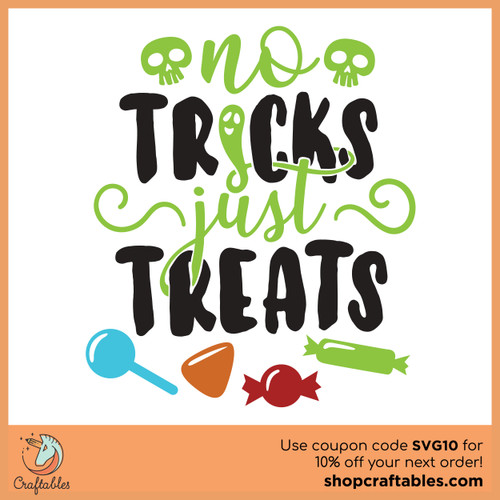 Free No Tricks Just Treats SVG Cut File