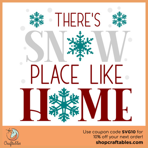 Free Snow Place Like Home SVG Cut File