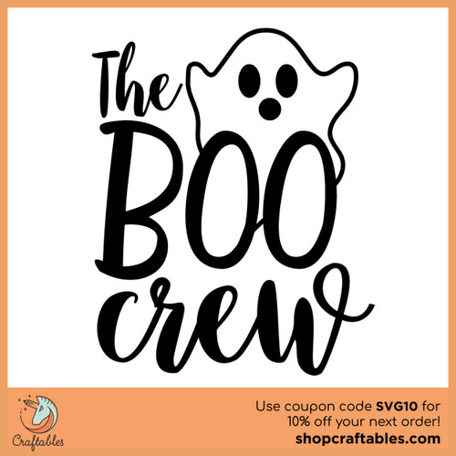 Free The Boo Crew SVG Cut File
