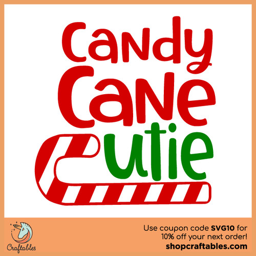 Free Candy Cane Cutie SVG Cut File