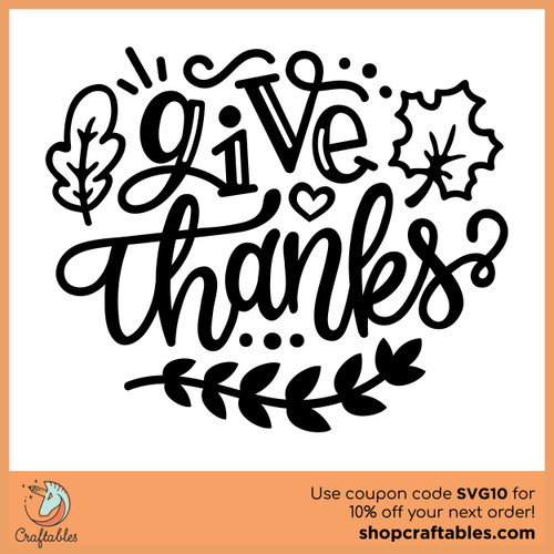 Free Always Give Thanks SVG Cut File