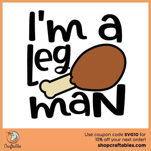 Free Leg Man SVG Cut File
