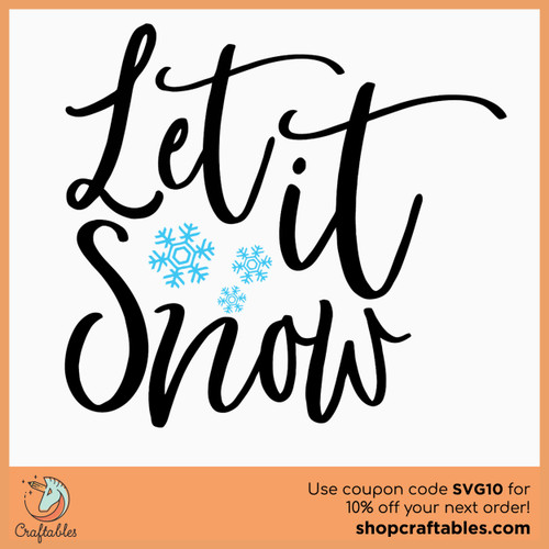 Free Let It Snow SVG Cut File
