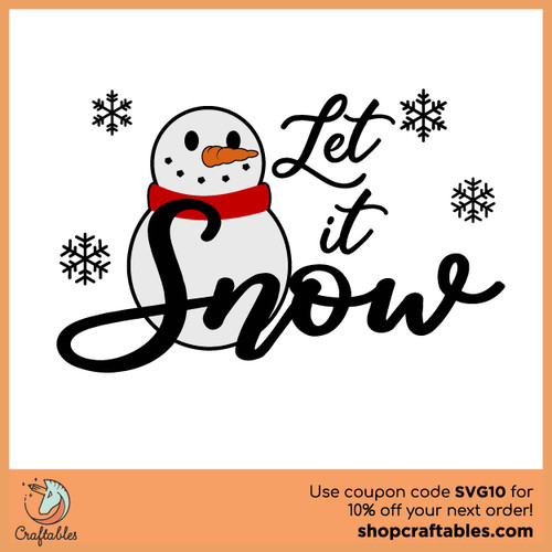 Free Let It Snowman SVG Cut File